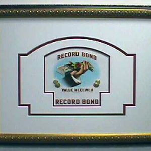 Record Bond - Cigar Label Art