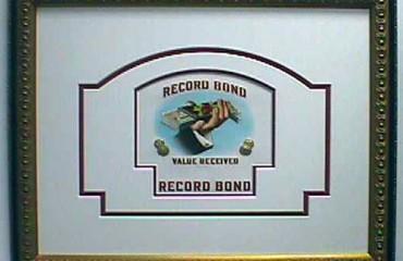 Record Bond – Cigar Label Art