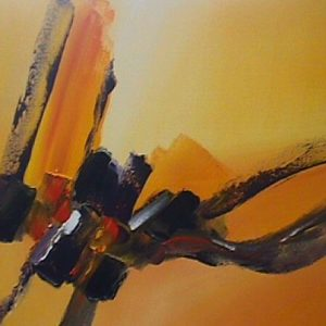 Emotion in Orange by artist Paul Tapia