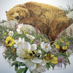 Bugged Bear by artist Bev Dolittle