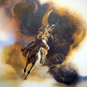 Runs with Thunder by artist Bev Dolittle