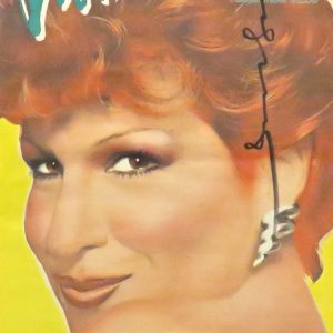 interview magazine signed by andy warhol with bette midler