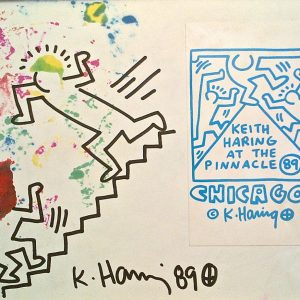 original drawing of Dancing Figures by Keith Haring