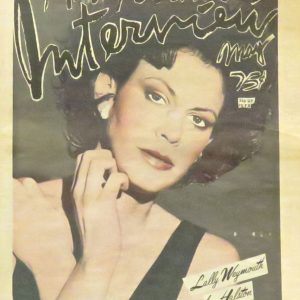 interview magazine signed by Andy Warhol featuring Lally Weymouth