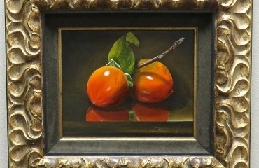 TWO PERSIMMONS – by Luba Stolper