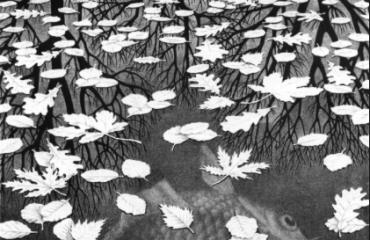 Three Worlds – by MC Escher