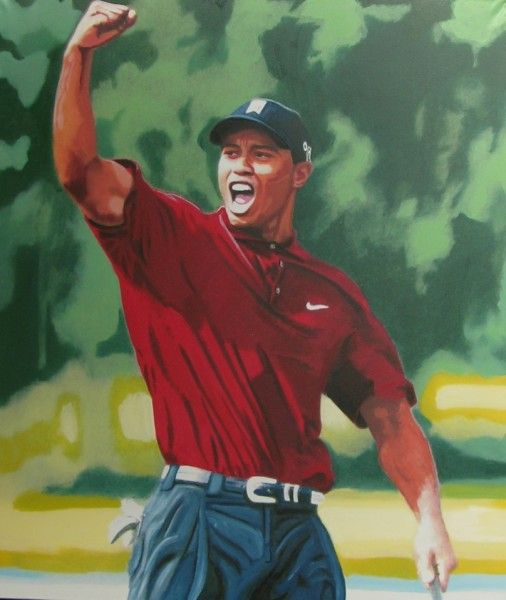 tiger woods by steve kaufman 2008 art encounter