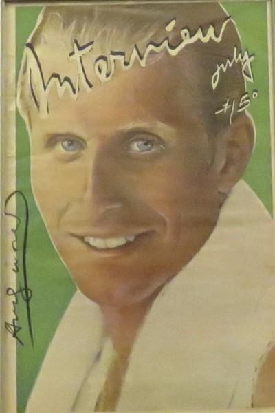 Interview Magazine signed by Andy Warhol - Vitas Gerulaitis 1979