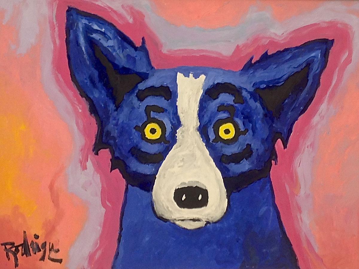 Blue Dog – George Rodrigue  (SOLD)
