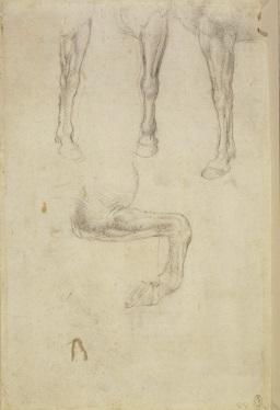126 recto - by Leonardo da Vinci - Art encounter - Queen's Collection