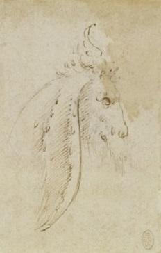 152 recto - by Leonardo da Vinci - Art encounter - Queen's Collection