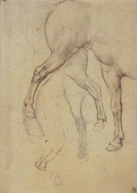 145 recto - by Leonardo da Vinci - Art encounter - Queen's Collection