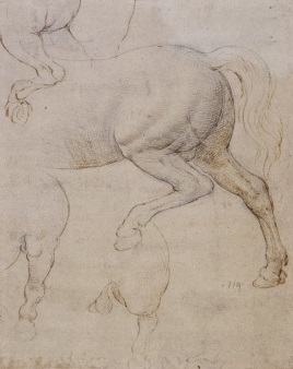 144 recto - by Leonardo da Vinci - Art encounter - Queen's Collection