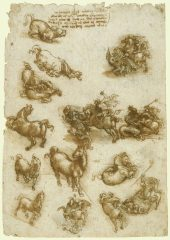 158 recto – by Leonardo da Vinci