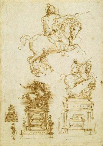 133 recto by Leonardo da Vinci Queen's Collection