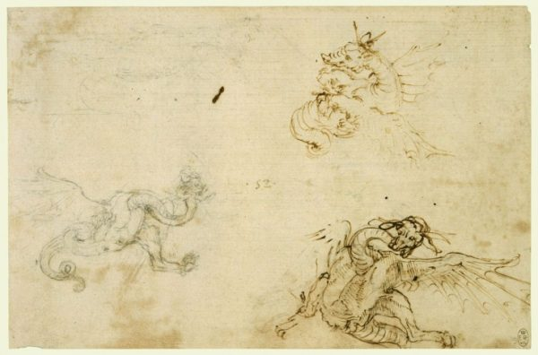 78 recto Leonardo da Vinci Queen's Collection