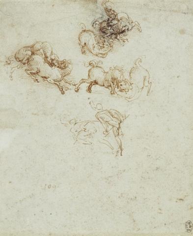 122 recto - Leonardo da Vinci Queen's Collection