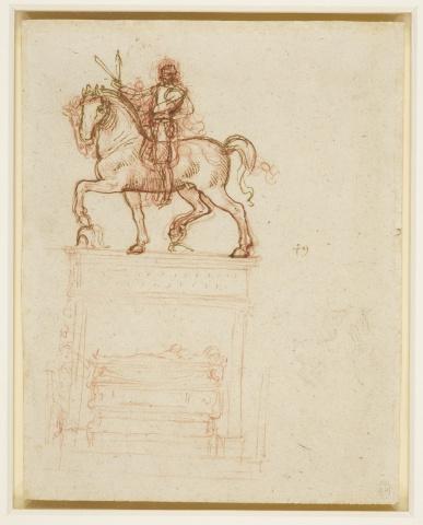 135 recto Leonardo da Vinci Queen's Collection