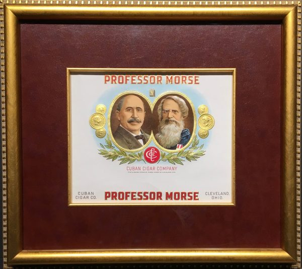 Professor Morse Cigar Label.
