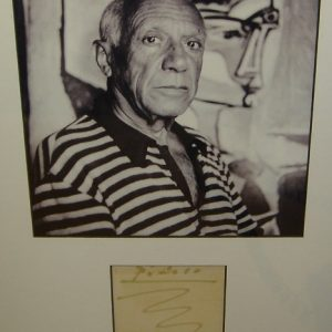 Original Signature and Photograph by Pablo Picasso - Art encounter