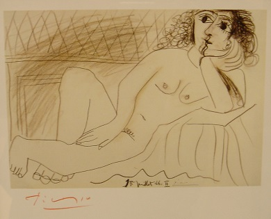 Original Signature on Gallery Card by Pablo Picasso - Art encounter