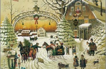 Christmas Greeting by Charles Wysocki