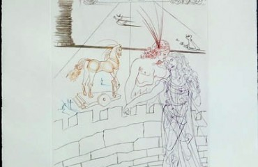 Paris & Helen of Troy – by Salvador Dali – (SOLD)