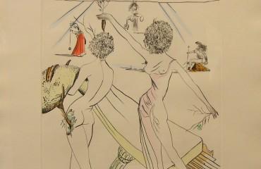 Les Femmes – Fleurs au Piano – by Salvador Dali