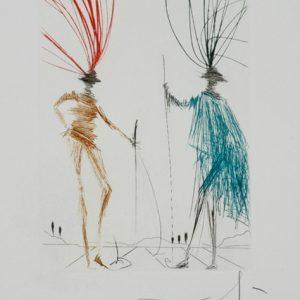 Two Gentlemen of Verona by Salvador Dali