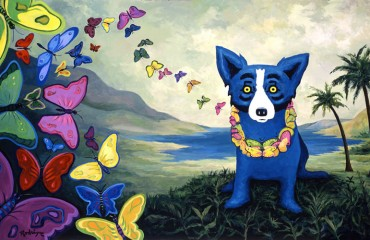 Hawaiian Blues by George Rodrigue  (SOLD)