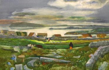 'Coast Near Galway, Ireland' (1964) By Millard Sheets