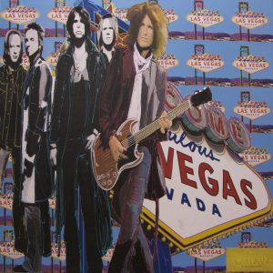 Aerosmith at the MGM Grand - Original Oil & Silkscreen on Canvas by Steve Kaufman