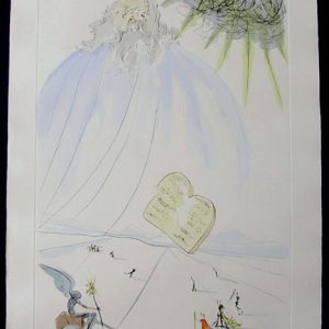 Moses - Original Engraving With Pochoir by Salvador Dali