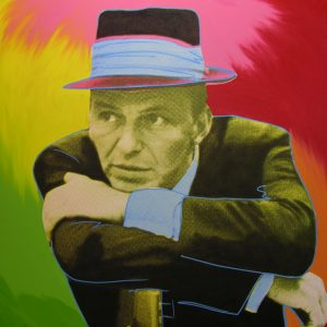 Mr. Entertainer - Original Oil & Silkscreen on Canvas by Steve Kaufman