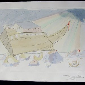 Noah's Ark - Original Engraving with Pochoir by Salvador Dali