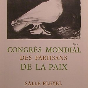 Congress Mondial de la Paix signed by Picasso