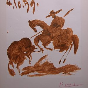 Toros Y Toreros by Mourlot and signed by Picasso