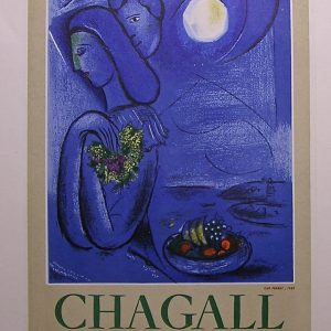 Signed Marc Chagall Exhibition Poster