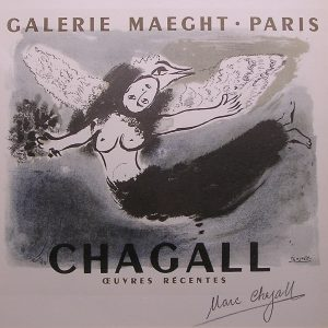 Signed Chagall Exhibition Poster