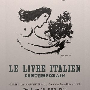 Signed Chagall Bookstore Poster