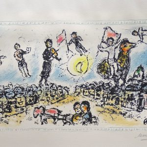 Original Stone Lithograph Signed and Numbered by Marc Chagall