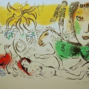 Monumental - An Original Stone Lithograph Signed and Numbered by Marc Chagall