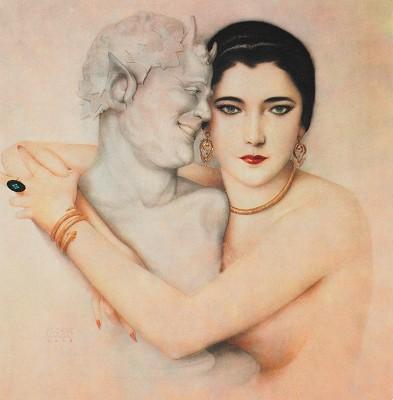 Nita Naldi by artist Alberto Vargas