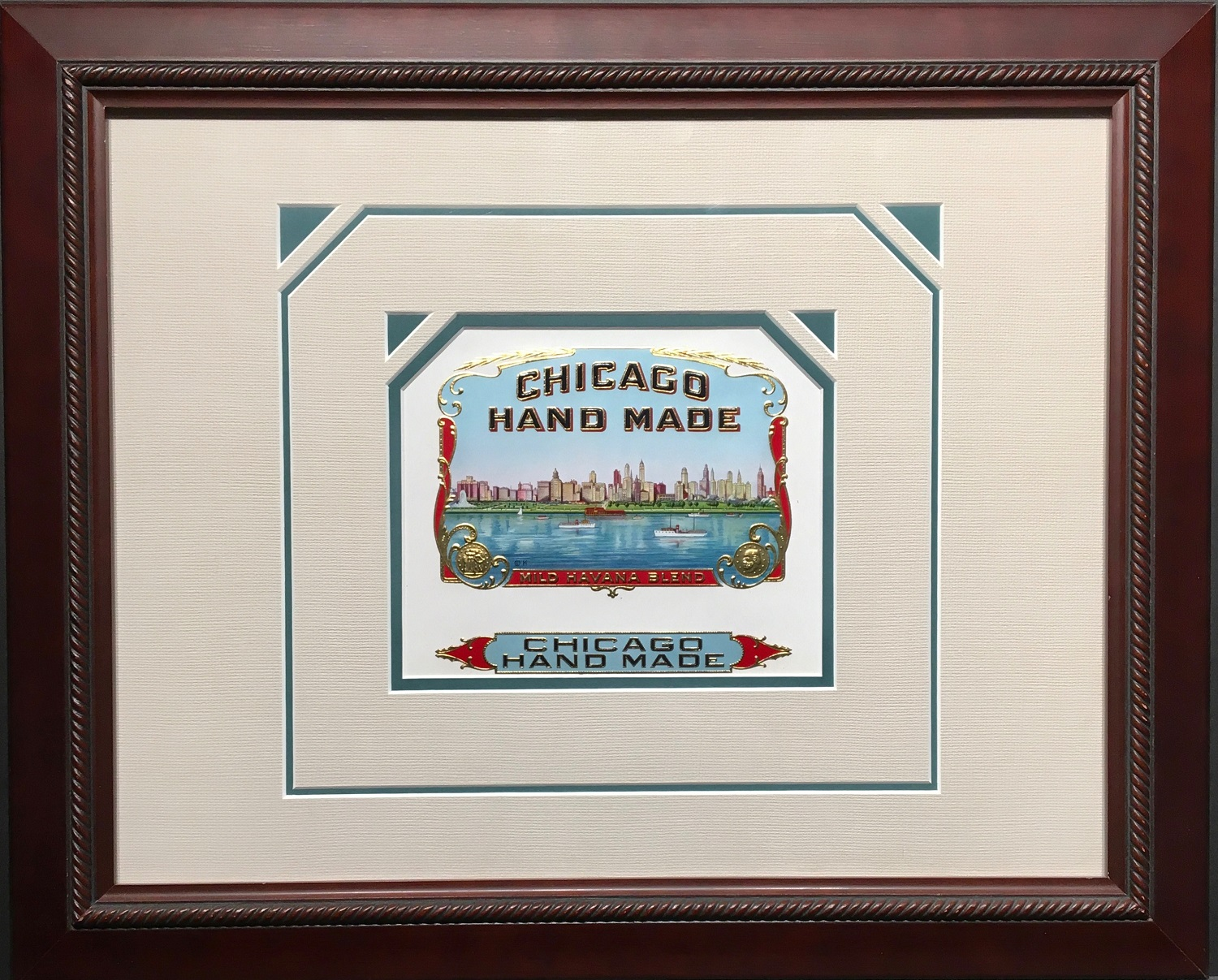 Chicago Hand Made Cigar Label.