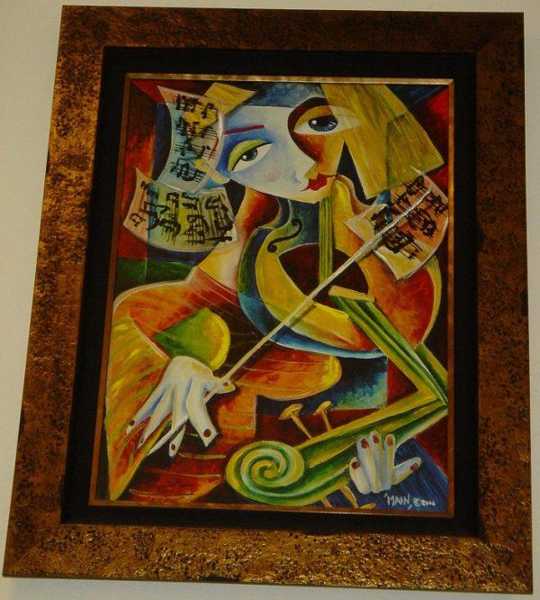 The Violin Framed by Jennifer Main