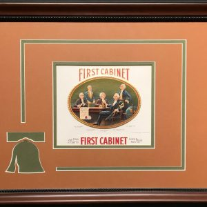 First Cabinet Cigar Label.