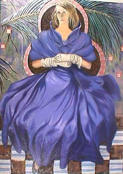 Blue Palm by artist Loppo Martinez