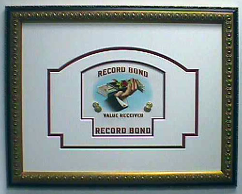 Record Bond – Cigar Label Art