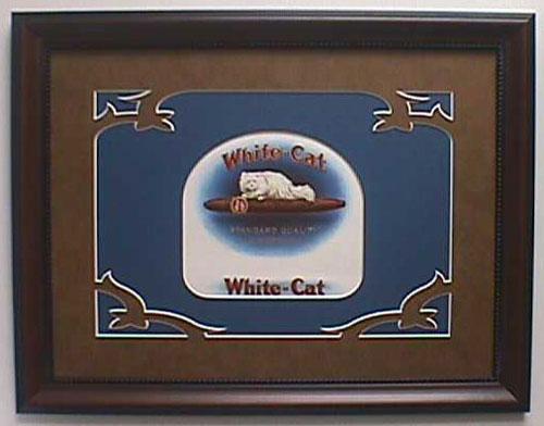 White Cat - Cigar Label Art