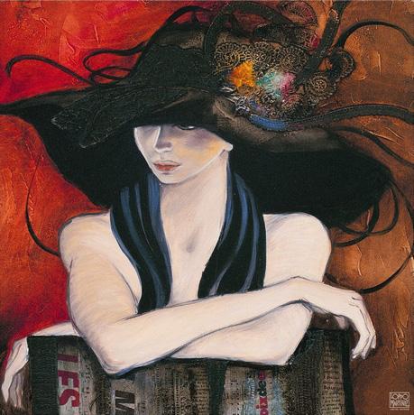 Chapeau Sur Les Yeux by artist Loppo Martinez